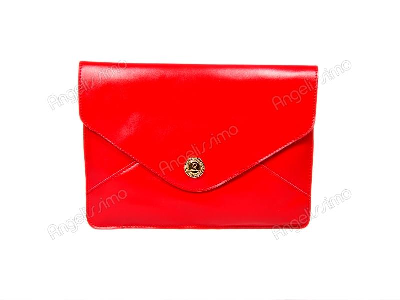 55c28a9bd65e Купить Клатч - конверт красный. BRimar: Кожа , красный. Кожаные ...