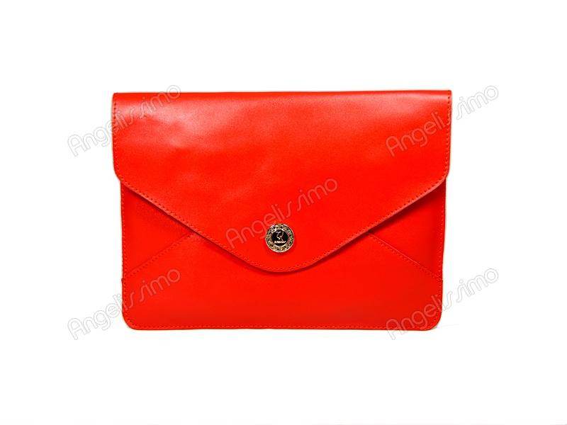 407a26552c6c Купить Клатч - конверт морковный. BRimar: Кожа , морковный. Кожаные ...