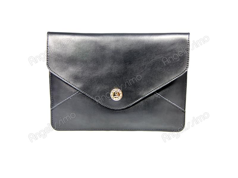 07390a96ba40 Купить Клатч - конверт черный. BRimar: Кожа , черный. Кожаные клатчи ...