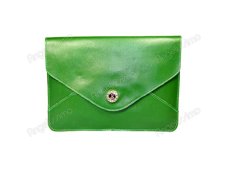878c2b950bef Купить Клатч - конверт цвета зеленой травы. BRimar: Кожа , зеленая ...