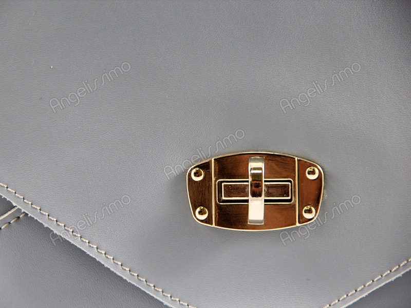 0904c5d25f8b Купить Клатч серый. BRimar: Кожа , серый. Кожаные клатчи - Клатчи ...